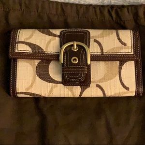 Coach canvas wallet